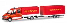 Herpa 093866 MAN TGE DoKa m.Pritsche & Hg. FW