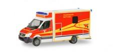 Herpa 094214 MB Sprinter Fahrtec-RTW FW Ingolstadt