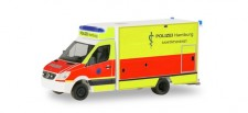 Herpa 094436 MB Sprinter Fahrtec Polizei Hamburg
