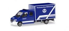 Herpa 094559 MB Sprinter DoKa Koffer THW München