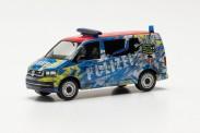 Herpa 096348 VW T6 Bus Polizei Sachsen-Anhalt Infom.