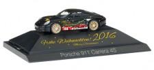 Herpa 101998 Porsche 911 Carrera 4S Weihnachten 2016