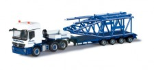 Herpa 303422 MB Actros L Semitieflade-SZ Wasel