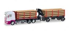 Herpa 307383 Scania R HL Holztransporter-HZ neutral
