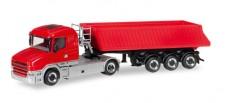 Herpa 307406 Scania Hauber Kipp-SZ rot/grau