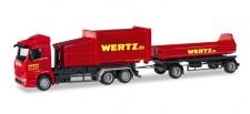 Herpa 307437 MB Antos Pressmüllcontainer-HZ Wertz