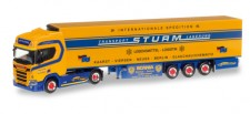 Herpa 307826 Scania CR20 HD Kühl-KSZ Spedition Sturm