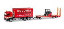 Herpa 308182 MAN F90 C-Lkw mit Goldhofer TU3 Colonia