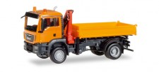 Herpa 308267 MAN TGS M E6c Dreiseitenkipper orange