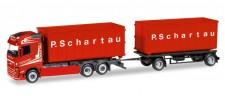Herpa 308571 Volvo FH Gl. Abrollmulden-HZ P.Schartau