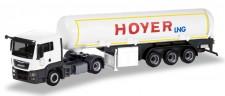 Herpa 308618 MAN TGS L Benzin-Tank-SZ Hoyer LNG