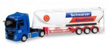 Herpa 308885 MAN TGX XXL E6c Euter-Silo-SZ Schwarzer