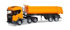 Herpa 309394 Scania CR ND XT Rundmulden-SZ orange