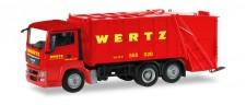 Herpa 309424 MAN TGS Pressmüllwagen Wertz Aachen