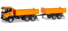 Herpa 309738 Scania CG17 6x6 T-Kipp-SZ orange