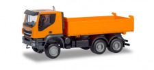 Herpa 309998 Iveco Trakker 6x6 Baukipper-LKW orange