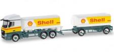 Herpa 310437 MB Actros SS Benzin-Ta-HZ Shell