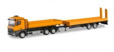 Herpa 310772 MB Arocs WL-Lkw m.Tieflader orange
