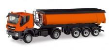 Herpa 311373 Iveco Trakker Thermomulden-SZ orange
