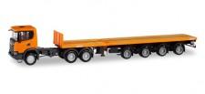Herpa 311403 Scania CG17 XT Teletrailer-SZ orange