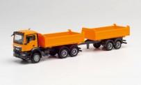 Herpa 312370 MAN TGX NN Tandem-Bau-HZ orange