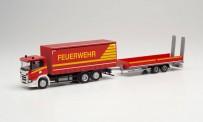 Herpa 313926 Scania CG GP-Lkw mit Tieflade-Hg FW