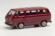 Herpa 420914 VW T3 Bus mit BBS-Felgen weinrot
