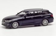 Herpa 430821 BMW 3er Touring tansanitblau-met.