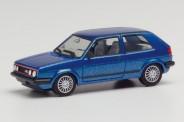 Herpa 430838 VW Golf 2 GTi mit Sportfelgen, blaumetal