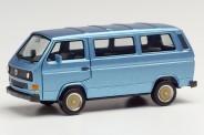 Herpa 430876 VW T3 Bus mit BBS-Felgen blaumet.