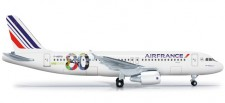 Herpa 524674 Airbus A320 Air France 80th Anniver.