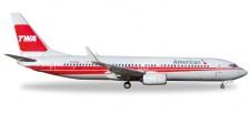 Herpa 529259 Boeing 737-800 AA TWA Heritage Livery