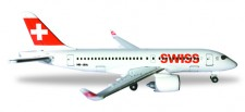 Herpa 530736 Bombardier CS100 Swiss International