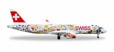 Herpa 559133 Bomardier CS300 Swiss International