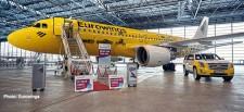 Herpa 559904 Airbus A320 Eurowings/Hertz 100 Jahre