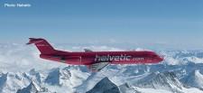 Herpa 559966 Fokker 100 Helvetic HB-JVC
