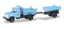 Herpa 745758 ZIL 130 Muldenkipper-HZ blau