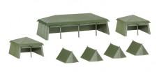 Herpa 745826 Bausatz Zelte (7 Stück)