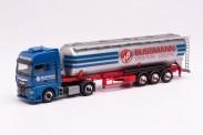Herpa 942775 MAN TGX GX Silo-Sattelzug 'Bussmann'
