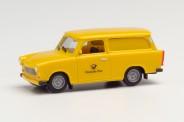Herpa 942799 Trabant 601 Universal Deutsche Post gelb