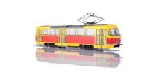 SSM (Vertrieb Herpa) 83SSM4032 Tatra-T3 Straßenbahn gelb / rot