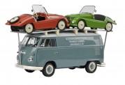 Schuco 450027800 VW T1/2 Bus & 2 Kleinschnittger F125