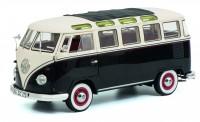 Schuco 450028700 VW T1/2b Sambabus schwarz/weiß