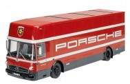 Schuco 450032300 MB O317 Renntransporter Porsche