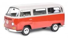 Schuco 450043600 VW T2a Bus L, rot/weiß
