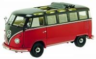 Schuco 450051200 PRO8: VW T1/2b Samba schwarzbr/rot