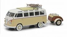 Schuco 450254600 VW T1/2b Samba Anhänger & Ski