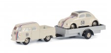 Schuco 450557500 VW T1/2b DoKa mit Hg. VW Käfer #53