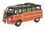 Schuco 450894300 VW T1a Sambabus 'Woody' rot/schwarz