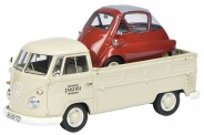 Schuco 450896300 VW T1/2b Pritsche m. Isetta